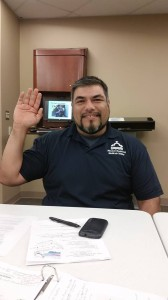 2015 ENA Chapter 438 President, Ruben Rocha being sworn into office